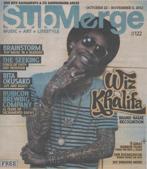 Wiz Khalifa на обложке журнала Submerge