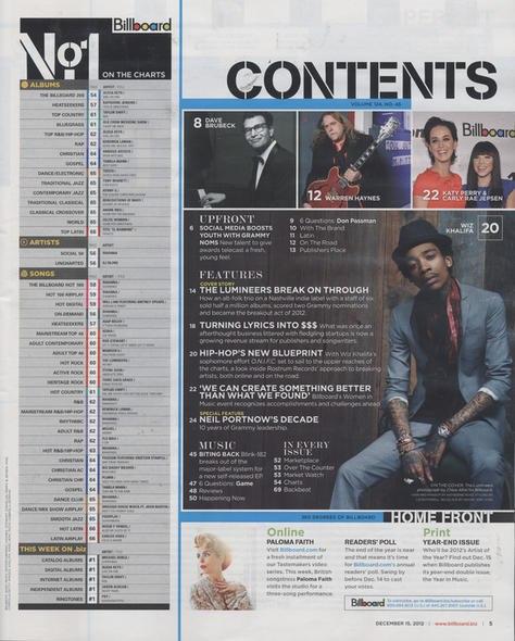 Статья о Wiz'e появилась в новом выпуске журнала Billboard.