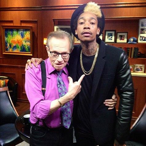 Wiz побывал в гостях у Larry King'a, на его шоу Larry King Now.