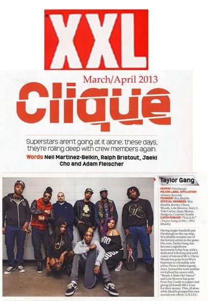Тэйлоры, во главе с Wiz'ом, попали в мартовско-апрельский номер журнала XXL.