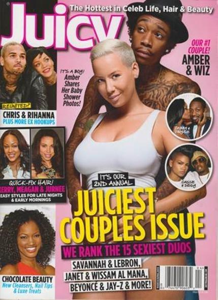Wiz и Amber попали на обложку мартовско-апрельского номера журнала Juicy.