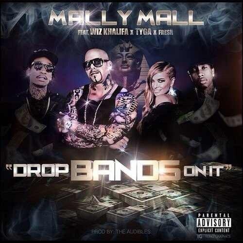 Обложка грядущего сингла «Drop Bands On It», который должен выйти во вторник.