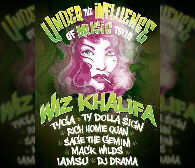 "Wiz Khalifa анонсирует тур ""Under The Influence Of Music"" 2014."